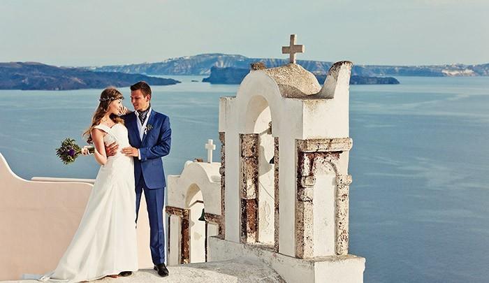свадьба в Греции на Санторини