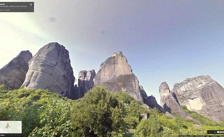 Путешествие по Греции от Google Street View