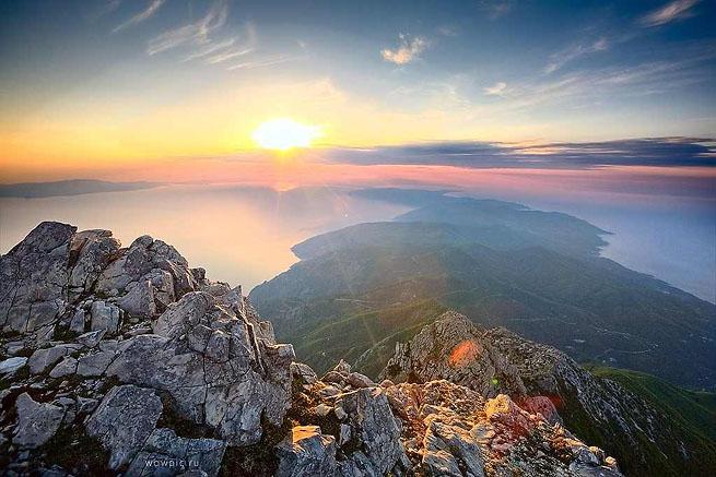 гора Афон Греция