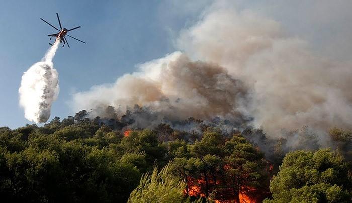 Лесные пожары на Крите, Родосе и Серифосе