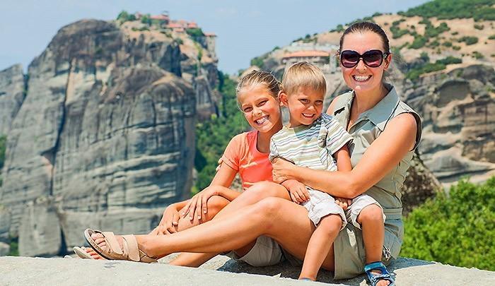 семейное фото Метеоры Греция