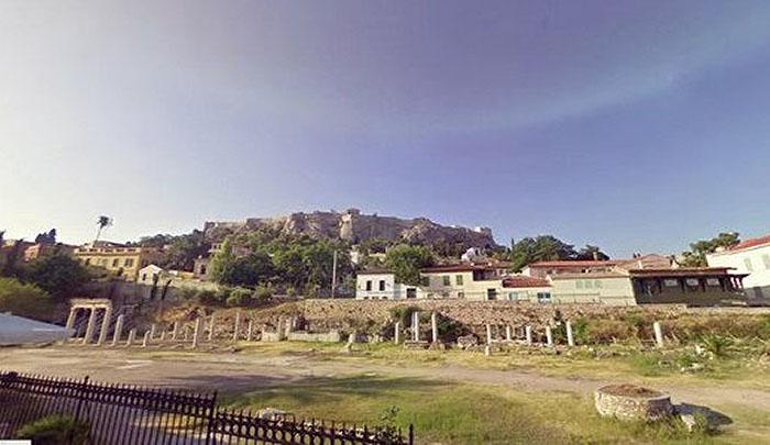 Греческие достопримечательности от Google Street View