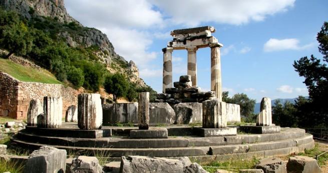 Руины города Дельфы в Греции