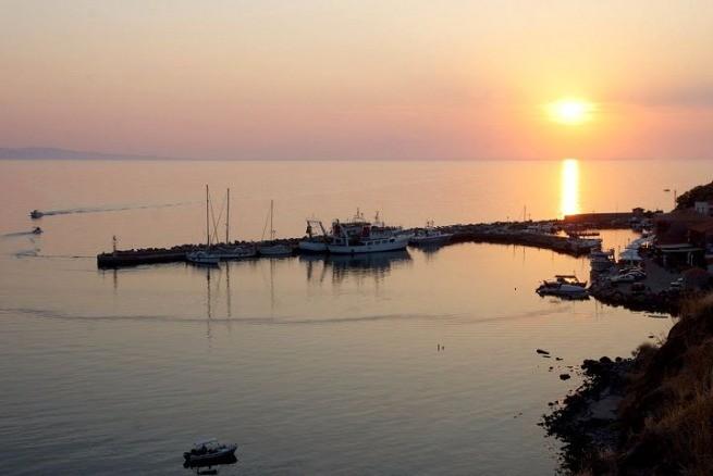 закат на острове Лесбос