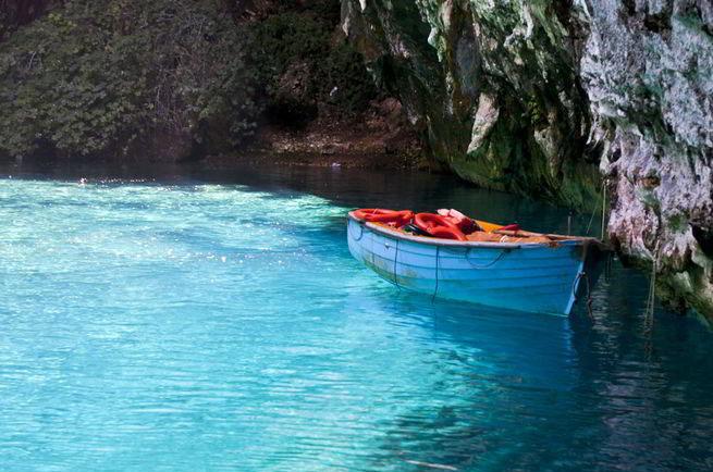 озеро-пещера Мелиссани на Кефалонии