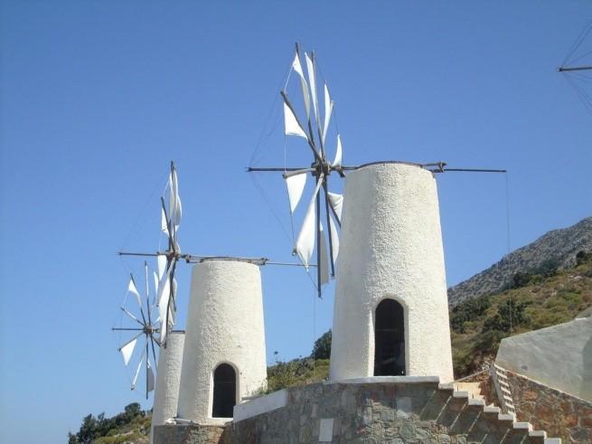 Ветряные мельницы на Крите Лассити