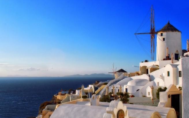 Ветряные мельницы на Санторини