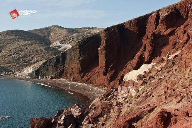 фото Красный пляж на Санторини