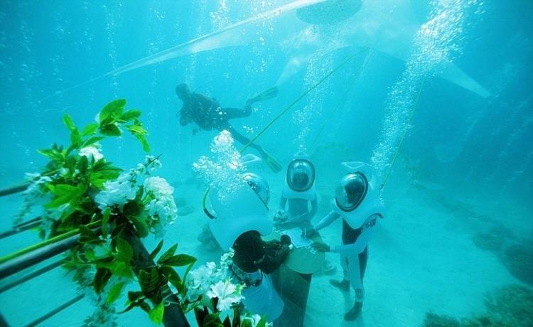 Свадьба под водой – альтернативный способ привлечь туриста