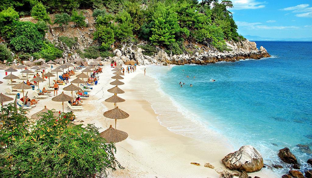 пляж на Тасосе