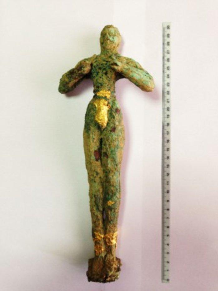 Найденного на Крите минойского куроса оценили в 1,3 млн евро
