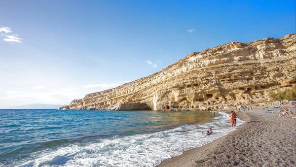 пляж Матала Крит