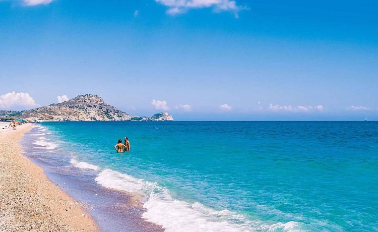 Пляж Афанду на острове Родос