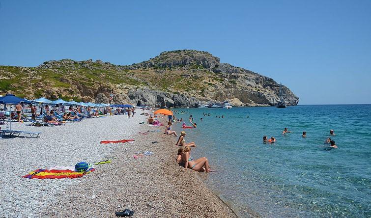 Пляж Афанду на острове Родос 1