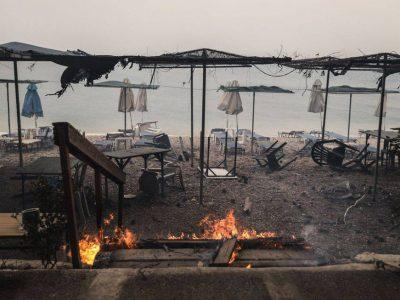 Пожары в Греции на Крите