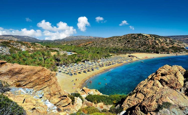 Пальмовый пляж Вай на Крите 1
