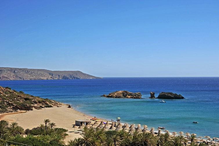 Пальмовый пляж Вай на Крите 12