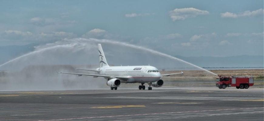 Первый самолет в Грецию после короны