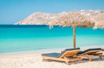 пляж Миконоса в Греции
